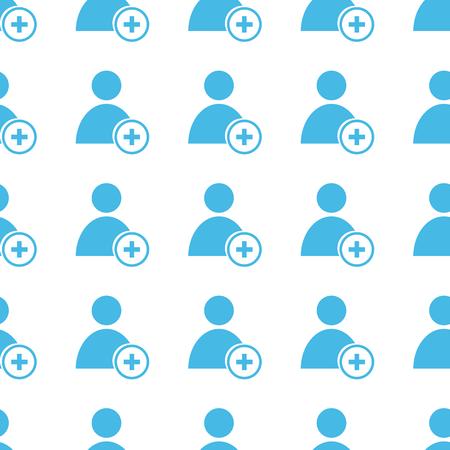 add: Unique Add user seamless pattern Illustration