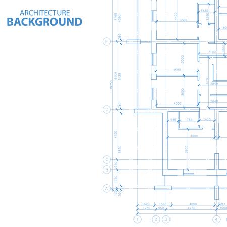 érdekes: Érdekes építészeti terv egyedi stílusban. Vektoros illusztráció