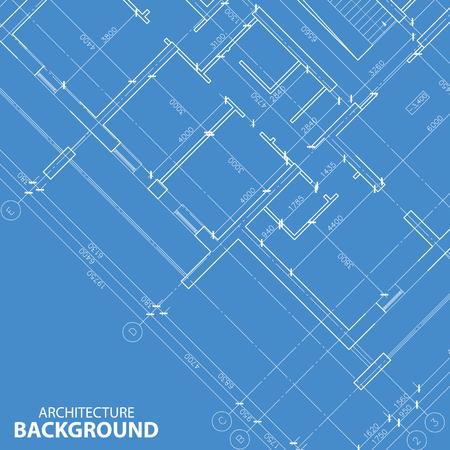 Blauwdruk beste architectuur achtergrond