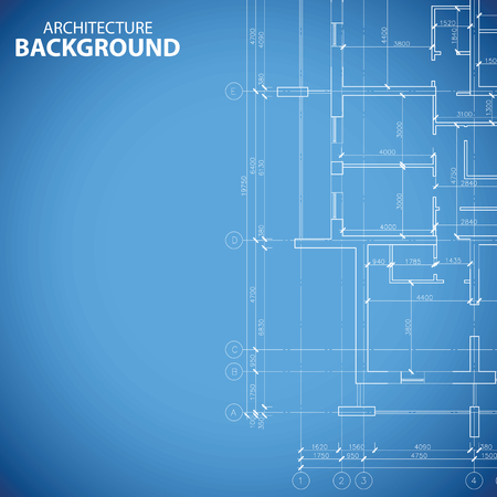 Blueprint building plan Vector