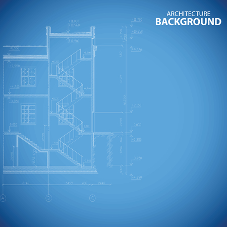 home construction: Best building structure background Illustration