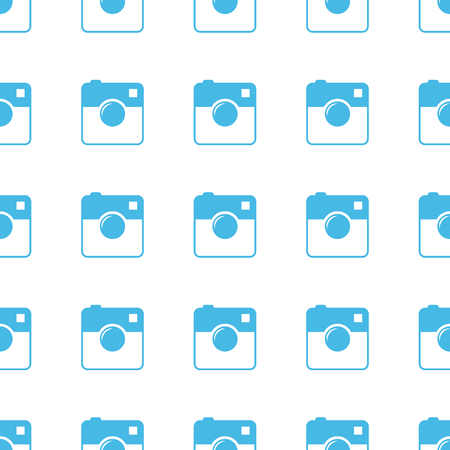 Unique Camera seamless pattern Vector