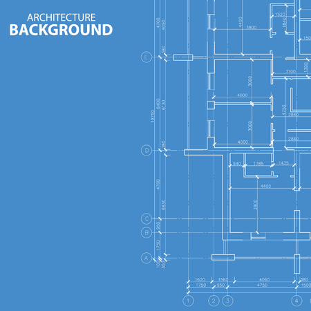 architecture: Blueprint architecture plan Illustration