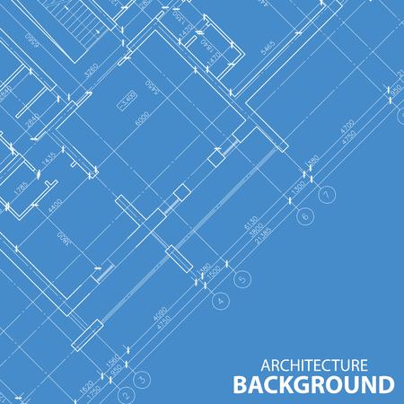 Blueprint best architecture model Vector