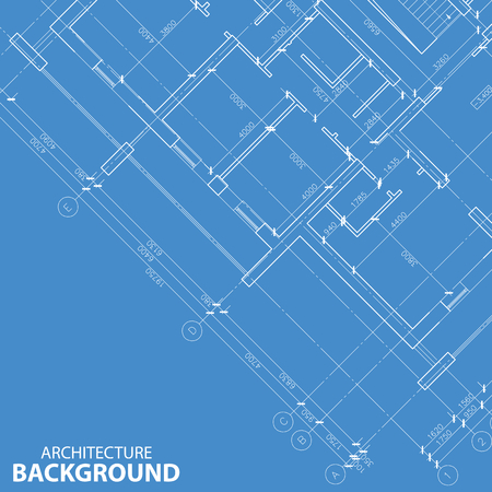 Blueprint best architecture model Vector