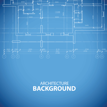 Bâtiment Blueprint fond Banque d'images - 38438059
