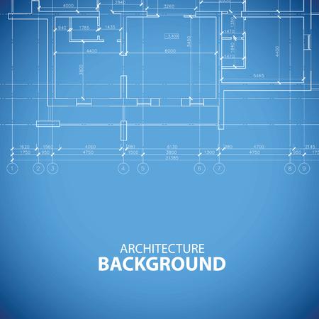 Blueprint building background Illustration