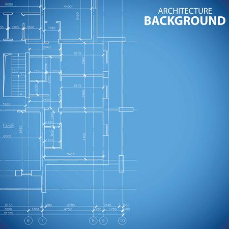 Blueprint building model Vector