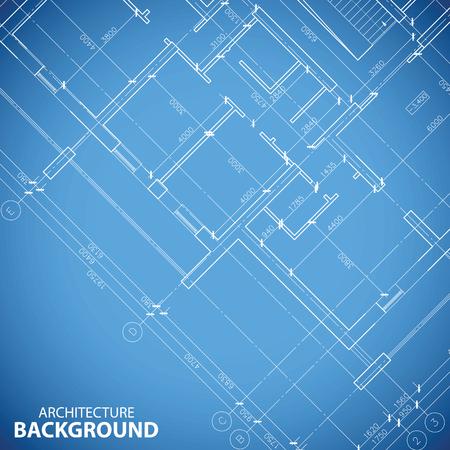 Blueprint building plan background Vector