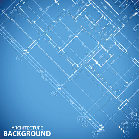 building plan: Unique building plan background Illustration