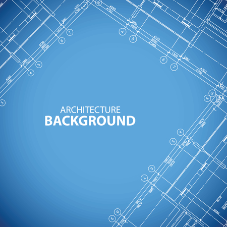 Blueprint building print Vector