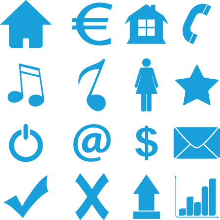 Best flat icons set Vector
