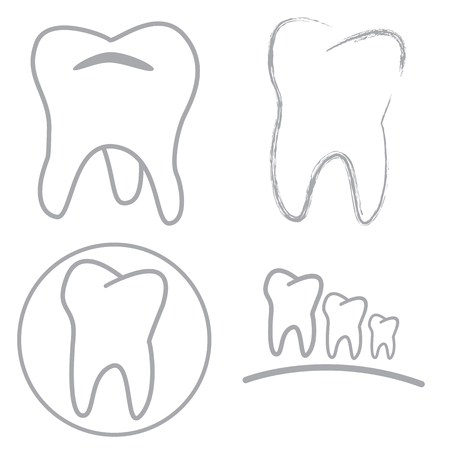 Tooth sign icon Vector