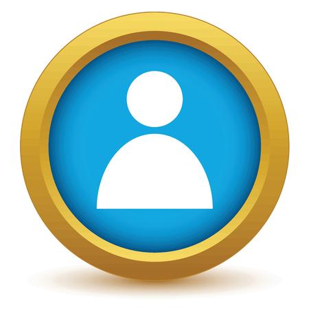 user profile: Gold user profile icon Illustration