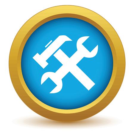 screw key: Gold repair icon