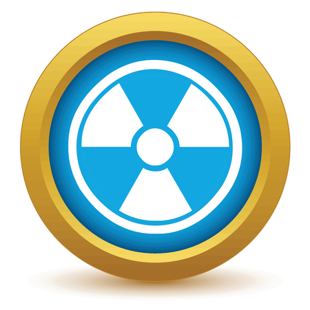 nuclear icon: Gold nuclear icon Illustration