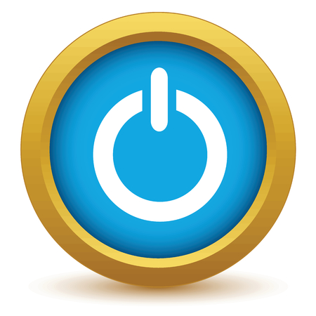 shiny buttons: Gold power icon