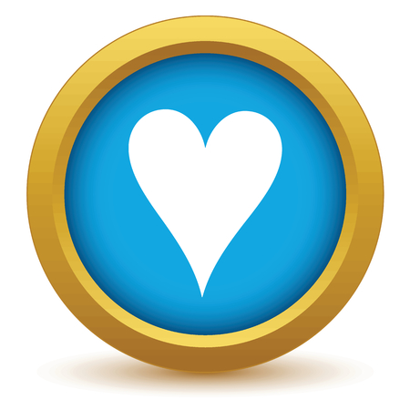 knave: Gold heart card icon