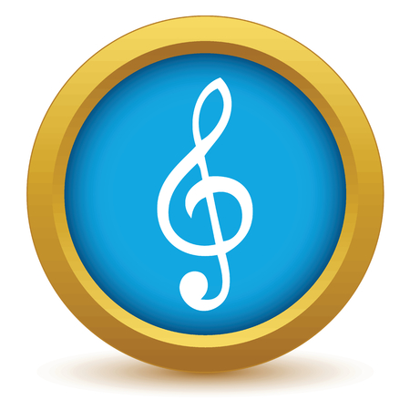 g clefs: Gold music icon Illustration