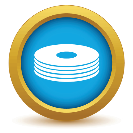 cd r: Gold disk icon