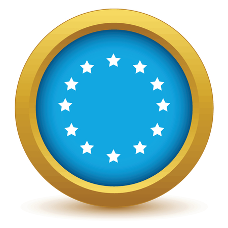 Gold European Union icon Vector