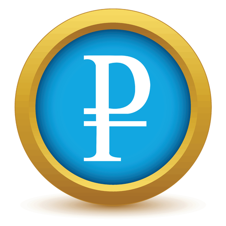 rouble: Gold ruble icon