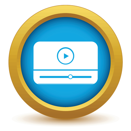 windows media video: Gold media player icon