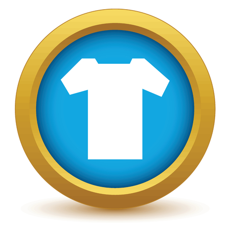 Gold tee shirt icon Vector
