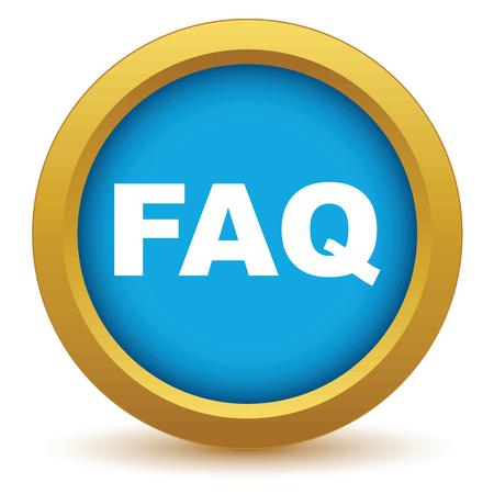 faq icon: Icono faq Oro