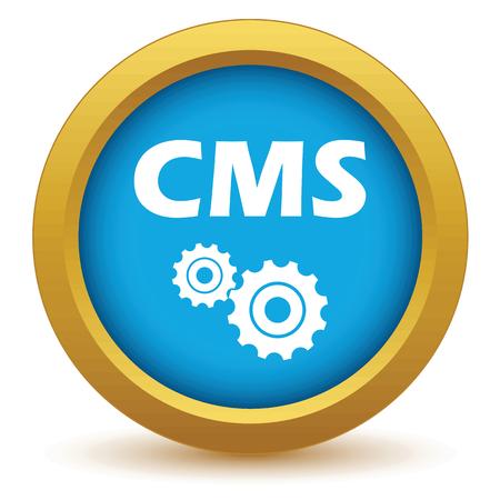 Gold cms icon Vector