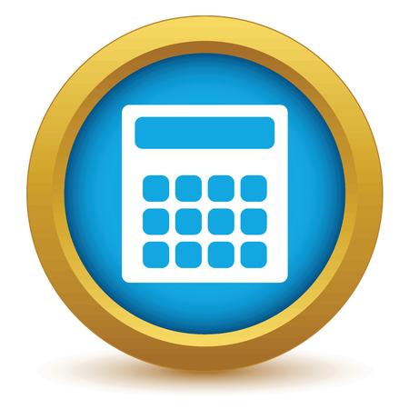 calculator icon: Gold calculator icon