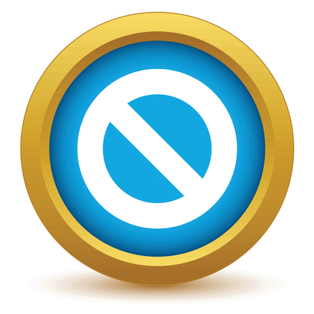 single entry: Gold sign ban icon