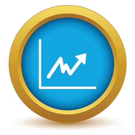 unstable: Gold unstable graph icon Illustration