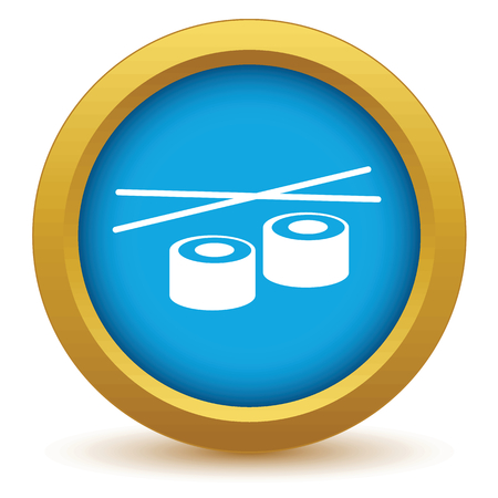 Gold sushi icon Vector