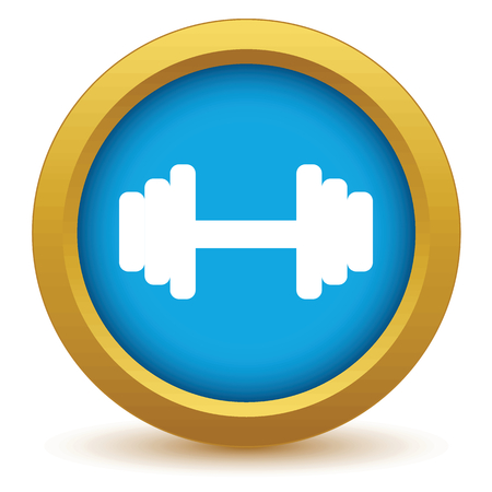 Gold weight icon