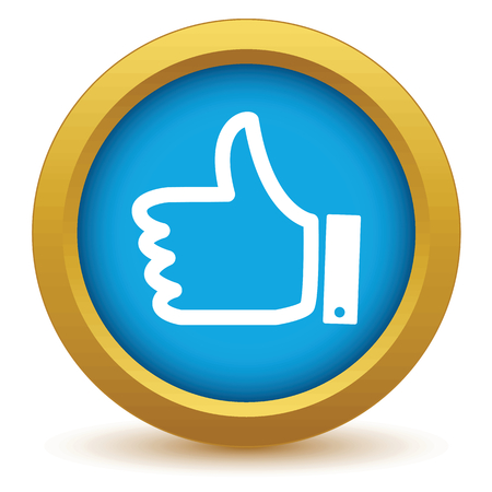 like button: Gold like icon Illustration