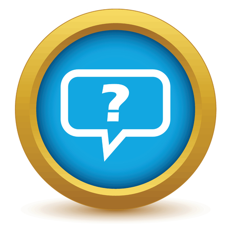 question icon: Gold question icon