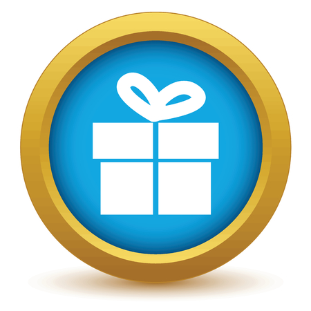gift packs: Gold gift icon