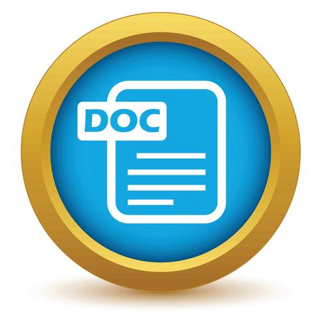 doc: Gold doc icon Illustration
