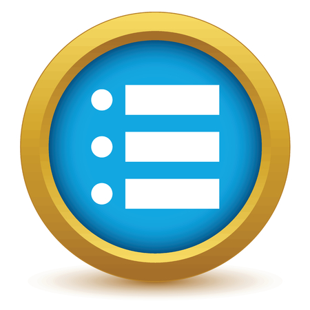 Ordinal: Gold ordinal list icon Illustration