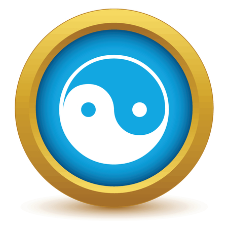 taoism: Gold Taoism icon Illustration