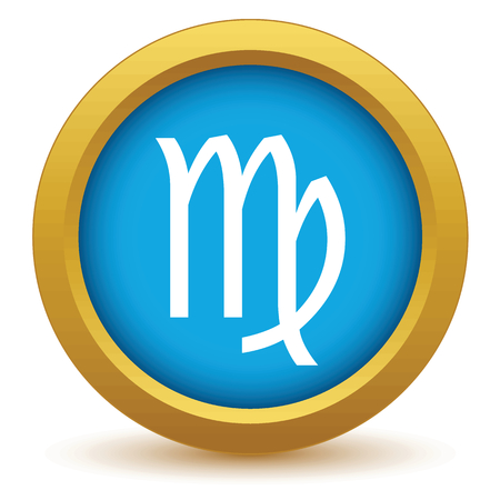 numerology: Gold Virgo icon Illustration