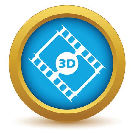 3d film: Gold 3d film icon