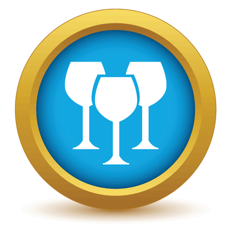 stemware: Gold stemware icon