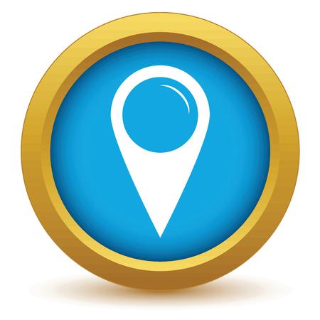 Gold pointer icon Vector