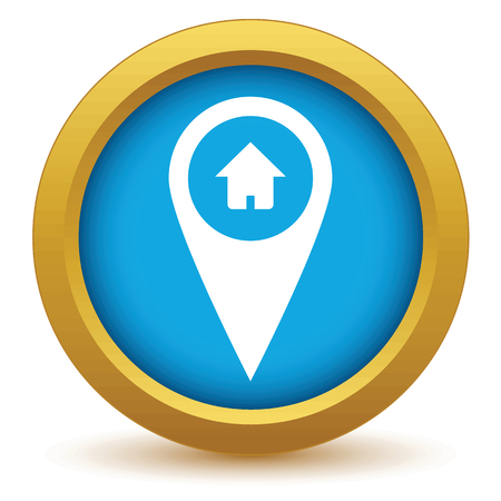 tip style design: Gold home pointer icon
