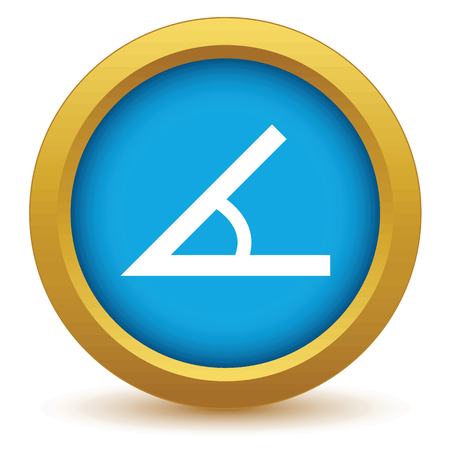 Gold sign of the angle icon Illustration