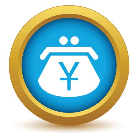 yen: Gold yen purse icon