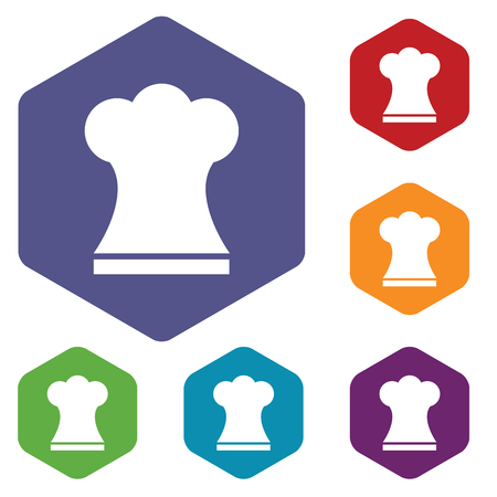 replaceable: Chef hat rhombus icons Illustration