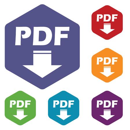 pdf: Pdf download rhombus icons